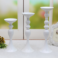 PEANDIM 50cm Height Candle Holder Stand Flowers Vase Candlestick Wedding Road Lead Candelabra Centrepieces