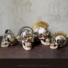 Reçine zanaat kafatası heykelleri ve heykeller bahçe heykelleri heykeller kafatası süsler yaratıcı sanat mekanik kafatası heykeli