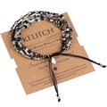 Fashion Bohemian Handmade Woven Agate Khaki Seed Bead & Citrine Crystal Charm Fashion Handcraft Strand Bracelets Jewelry