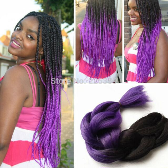 Black Hair Color Highlights Wigs Ombre Braiding Exrension African American Braid
