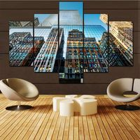 Wall Art Beautiful New York Architecture 5 Panels Wall Art Canvas Paintings Wall Decora For Artwork Giclee Wall Art Home Decor
