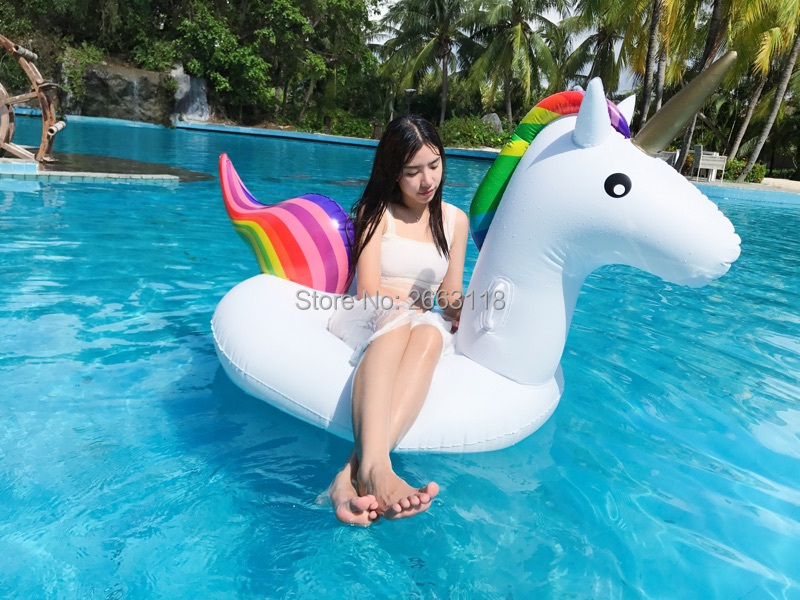 New Arrival 78 Inch Pool Giant Inflatable Unicorn Floatie Adult Air Mattresses Floating Row Swim