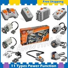 11 типов Techinic силовые функции моторизованный MOC M L XL сервопривод мотор батарейный блок модель строительные блоки наборы совместимы с lego