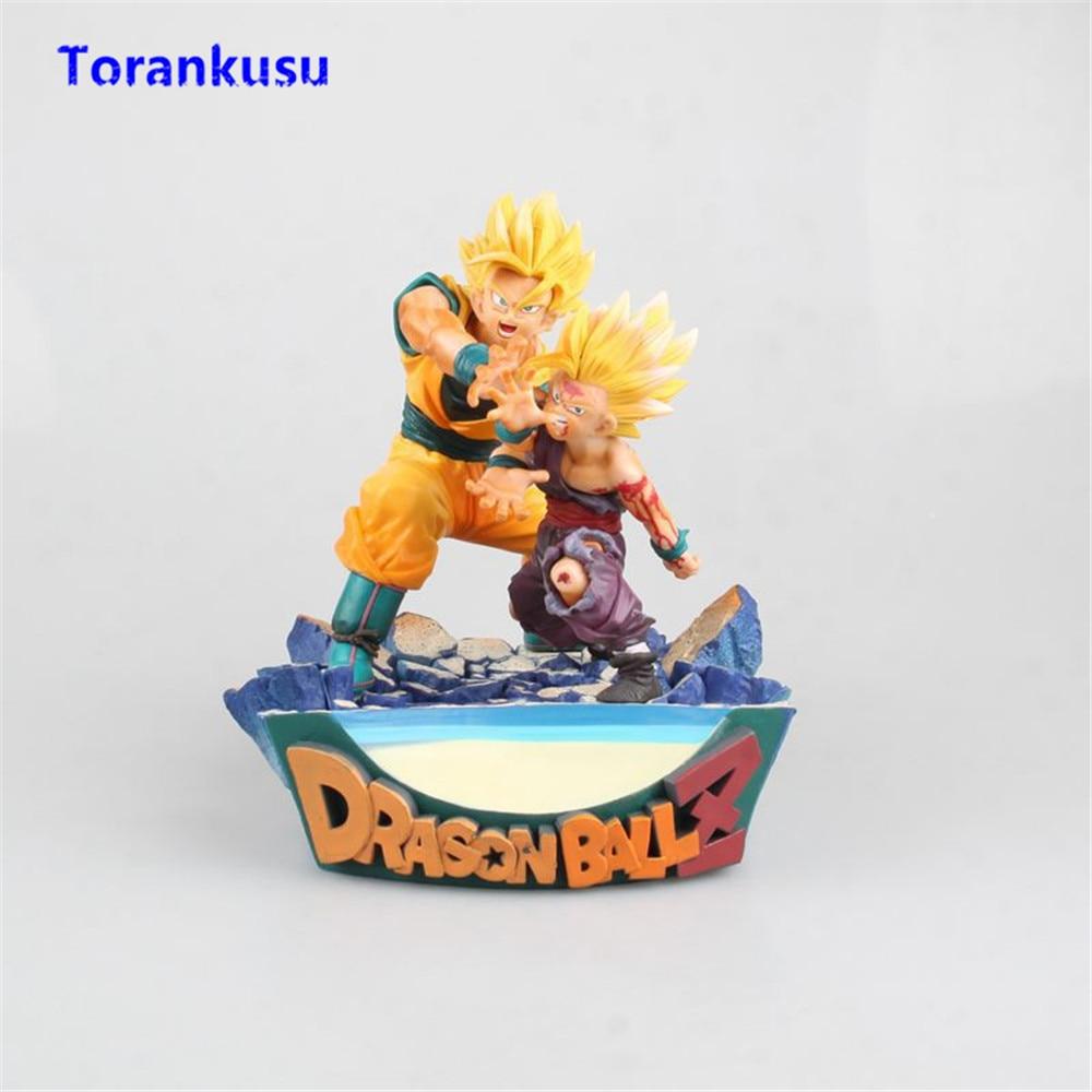 Figurine Dragon Ball Z jouets Super Saiyan fils Goku & Gohan père et fils Figurine onde de choc Figurine PVC Figma poupée Figuras Anime XP