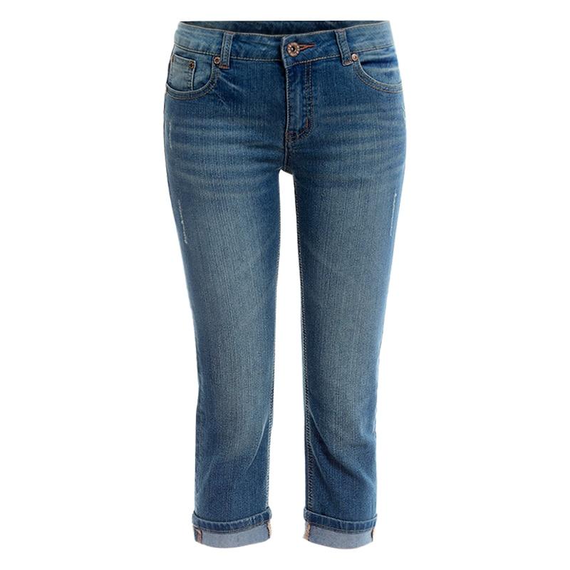 Summer Denim Capri Skinny Jeans Woman Stretch High Waist Jeans Short Denim Pants Women  Clothing Y137 denim pants high waist stretch slim pencil jeans women plus size capri pants elastic waist thin skinny jeans woman summer 2017