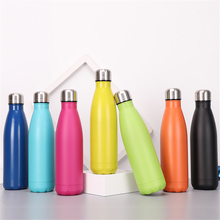 Solid Color Water Bottle 500ml Colorful Thermos Insulated Vacuum Stainless Steel Drink Portable Hiking Camping Cup
