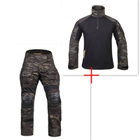 New G3 Uniform Combat Shirt Pants with Knee Pads Military Airsoft Uniform Tactical Paintball Hunting Clothes BDU Camouflage