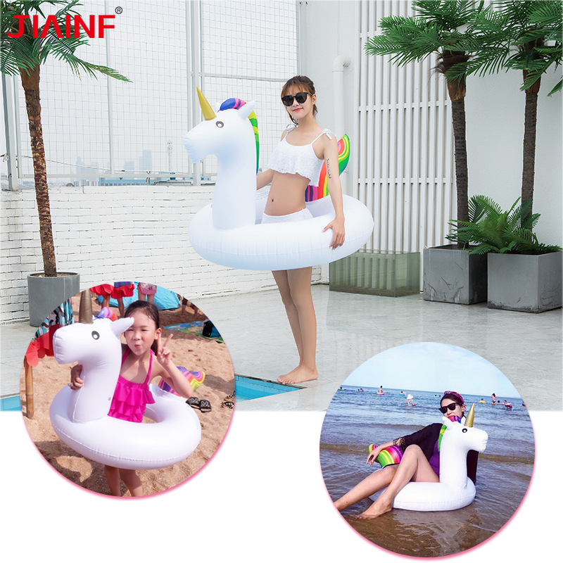 Hot Sale Inflatable Unicorn Swimming Circle Summer Unicorn Float Swimming Ring For Adult Pool Float Water Sports Fun Pool
