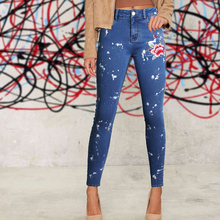 d6caf0c1460 Buy floral embroidered skinny jeans women and get free shipping on  AliExpress.com