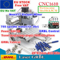 [EU Delivery/Free VAT] 1610 GRBL Control Machine CNC DIY mini Working Area 160x100x45mm 3 Axis Pcb Milling Machine Wood Router