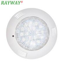 Водонепроницаемый светильник для бассейна IP68, 54 Вт, 18 светодиодов RGB, 12 в перем. Тока/постоянного тока, Фонтанная подводная лампа с пультом дистанционного управления
