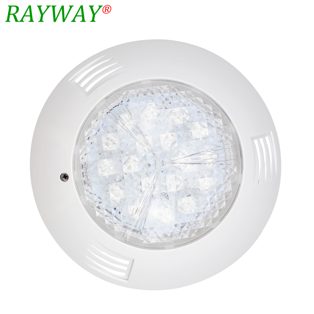 Rayway High Quality IP65 Wall mounted 54W RGB 18leds AC/DC 12V swimming pool light Pond Fountain Underwater Waterproof Lamp 2pcs 54w rgb ip68 underwater swimming pool light ac dc 12v fountain lamp piscina wall mounted ir remote pond decoration lighting