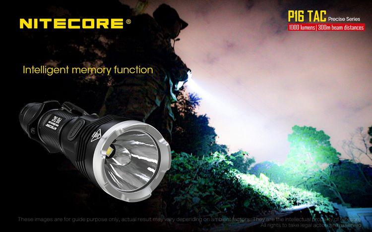 Desconto Nitecore P16TAC 1000LM CREE XM L2
