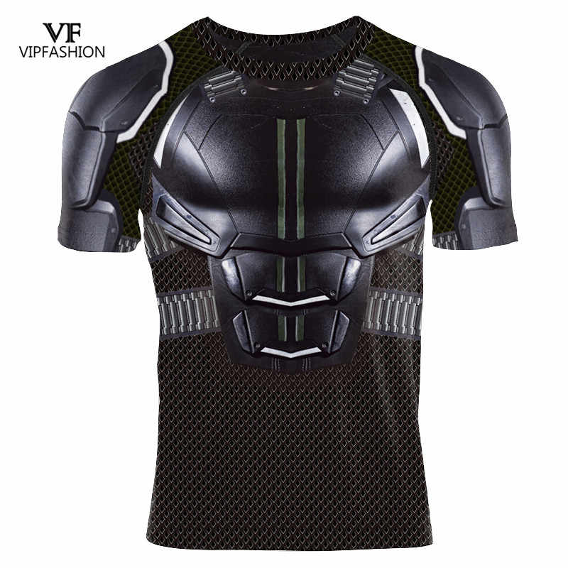 VIP Fashion 2019 Baru 3D Dicetak Pendek Tee Batman Kompresi Lengan Panjang Justice League DC Super Hero Kebugaran Gym T-shirt