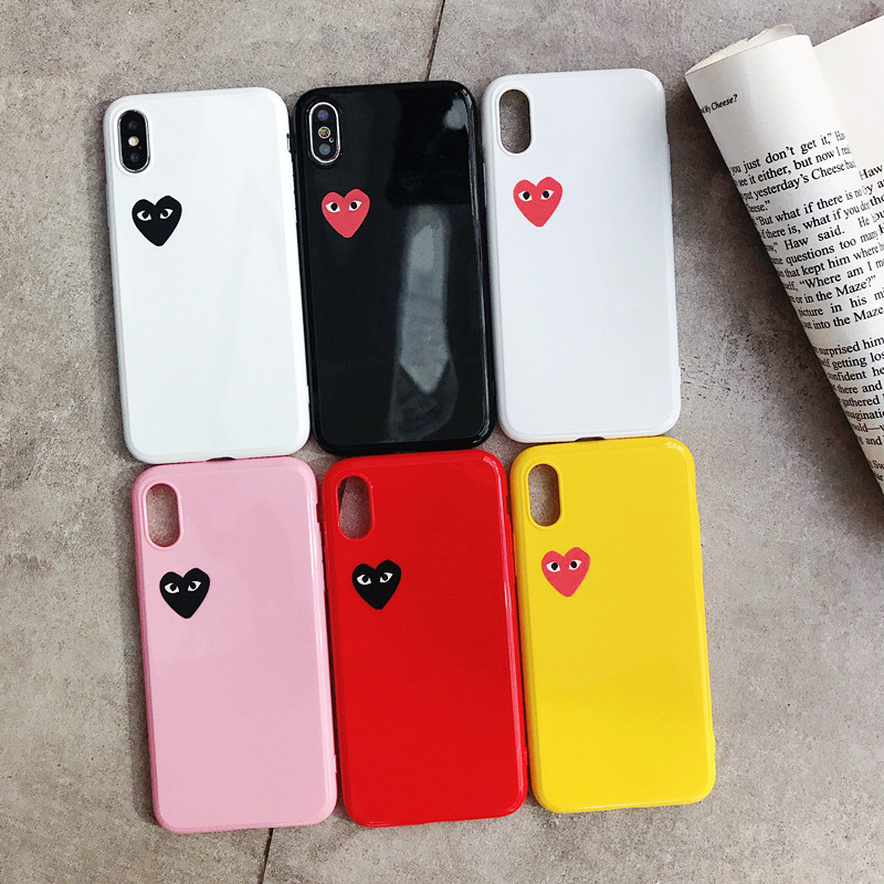 love Japan brand case for iphone X XS MAX XR 6 6S 7 8 plus glossy CDG Play soft silicone tpu coque cover