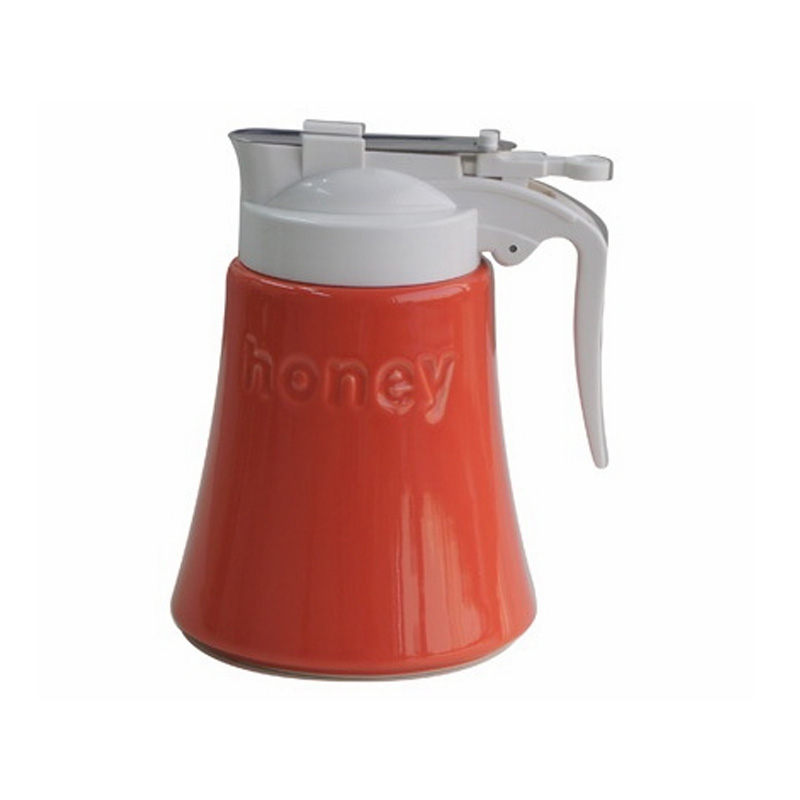 Stainless steel honey pot jars for storage ceramic bottle cooking lid oil ketchup bottle cover household