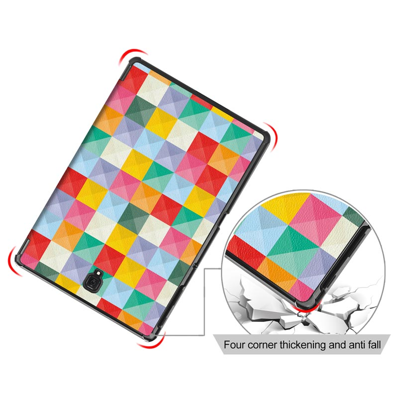 Magnet Sleep Wake Case For Samsung Galaxy Tab A 10.5 2018 SM-T590 SM-T595 T590 T595 Cover Tri-Fold PU Leather Nice Print Shell