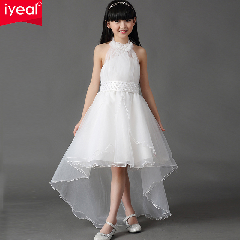 IYEAL New Elegant Flower girl dresses for weddings sleeveless princess dress girls pageant dresses wedding party dress for Kids julie hyzy buffalo west wing