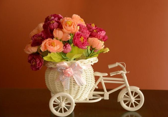 Free shipping flowers small bicycle floats rose artificial free shipping flowers small bicycle floats rose artificial decoration flower home furnishings decoration flower gift set on aliexpress alibaba negle Images
