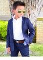 2016 Современная Fit Мальчиков Черные Костюмы Для Свадьбы На Заказ Театрализованное Черный Белый Коричневый Синий Костюмы (Куртка + Брюки)