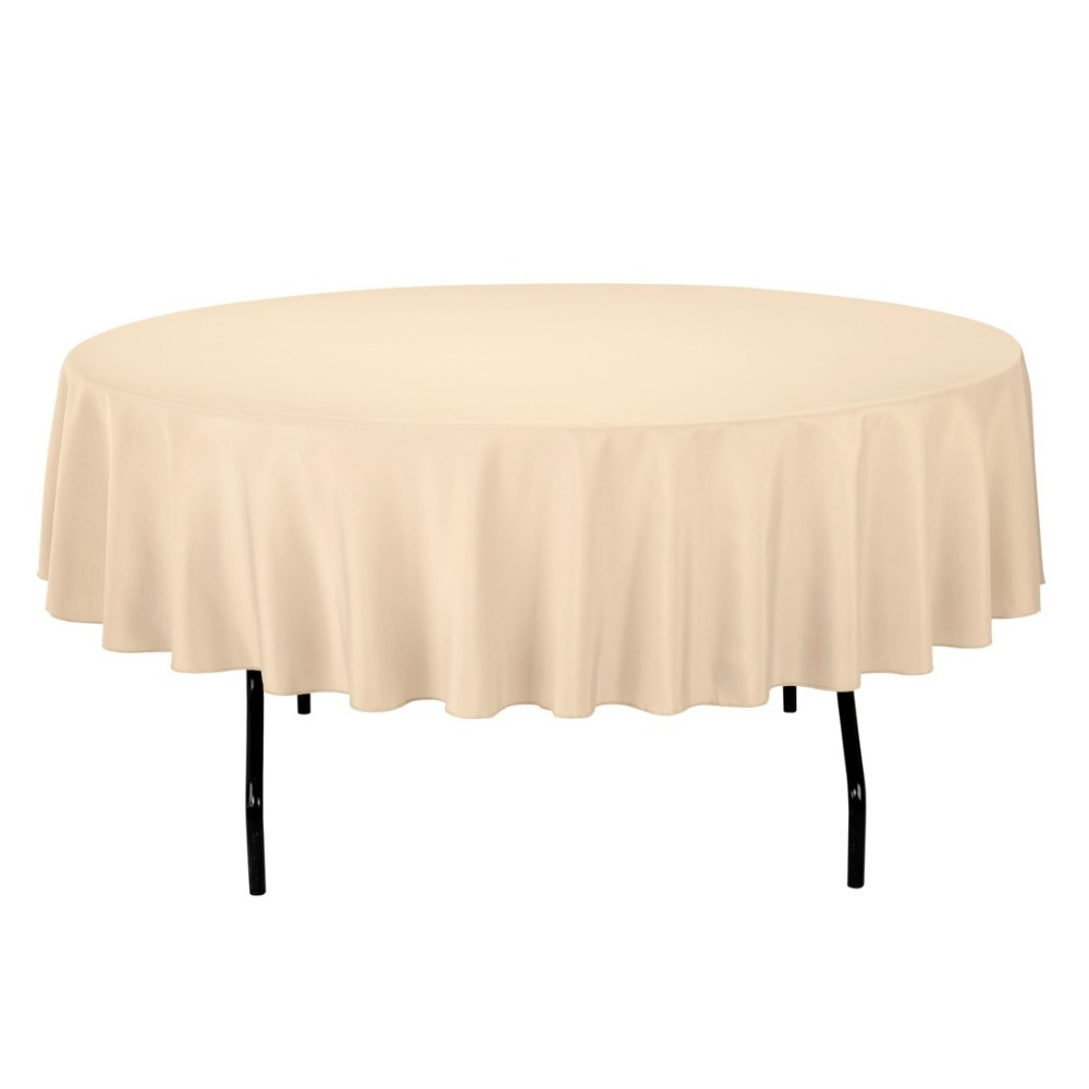 96 inch round tablecloth - Ceremony Round Polyester Tablecloth Color Beige For Ceremony 20 Pack