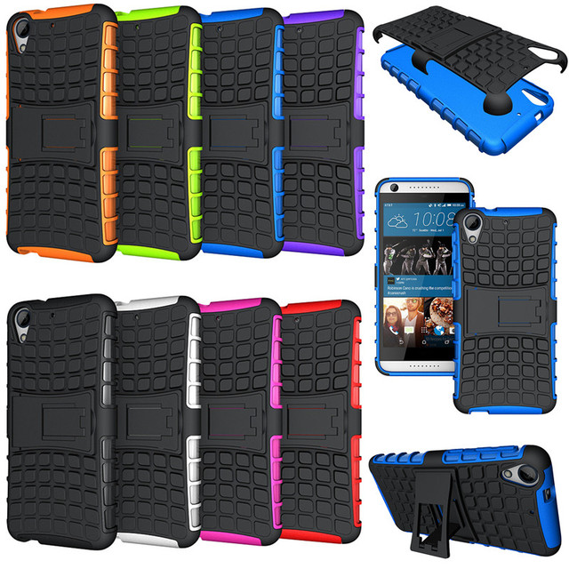 Hybrid Kickstand Armor Case For HTC Desire 626 628 626G Plus 626G+ 626S 626D Case Cover Dual Layer Silicone+Hard Back Case 5.0''
