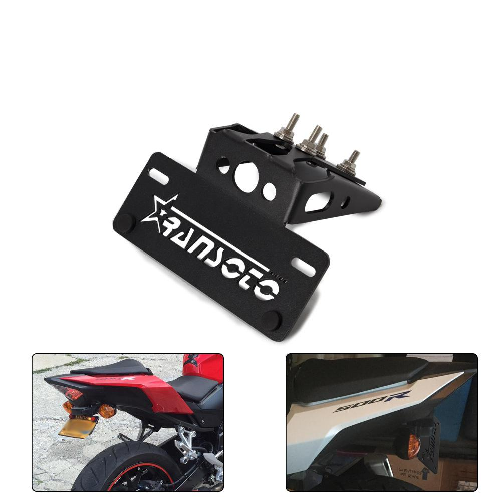 Motocross modification accessories universal swallowtail aluminum license plate frame