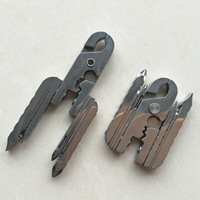 Multifunction Tool Clamp Travel Gadget Keychain Combination EDC Tool Folding Pliers 15 In 1 Screwdriver