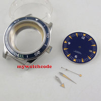 41mm blue ceramic bezel Watch Case blue dial + hand fit ETA 2824 2836 miyota 8215 821A MOVEMENT