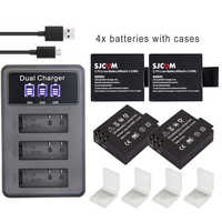 S009 original SJ 4000 Batterie eken H9 SJ5000 Wifi + 3Ports LED ladegerät für SJCAM sj4000 batterie SJ6000 SJ7000 SJ8000 sj9000 M10