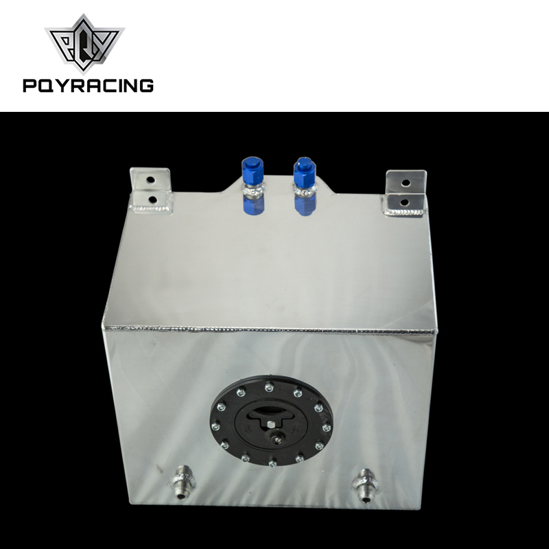 PQY - 30L Aluminium Fuel Surge tank mirror polished Fuel cell foam inside, without sensor PQY-TK67