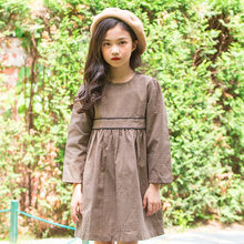 f6123d8a5f61 autumn girl dress long sleeve kids dresses for girls plaid dress 2018 fall  teenage girls clothes size 3 4 6 7 8 9 10 11 12 13 14