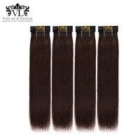 VL Человеческие волосы 4bundles волос ткань 100% Волосы Remy расширения прямо с бесплатной доставкой черный/коричневый для салона ткань