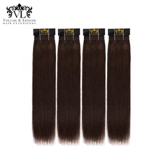 VL Human Hair Bundles 4 Weave 100% Remy Extensions Straight With Free Shipping Black/Brown For Salon