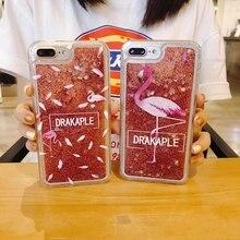 Dynamic Liquid Case for huawei p20 lite Quicksand Back Cover pro nova3 2s flamingos phone coque capa