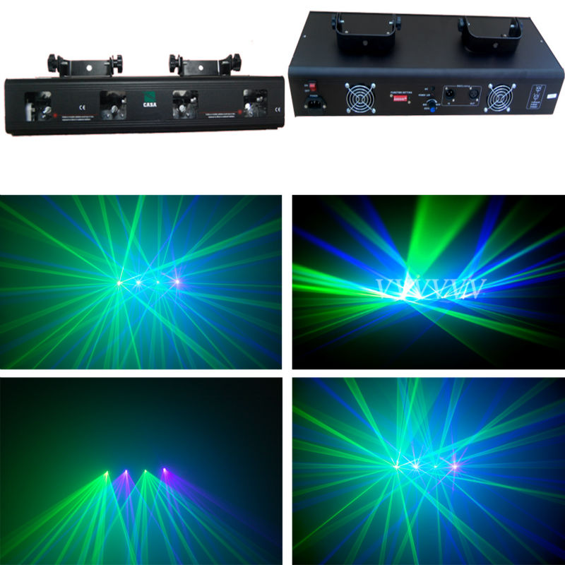 Fast Shipping New 4 Lens GV DJ Lazer DMX512 moving head Disco light Stage Party effect lights