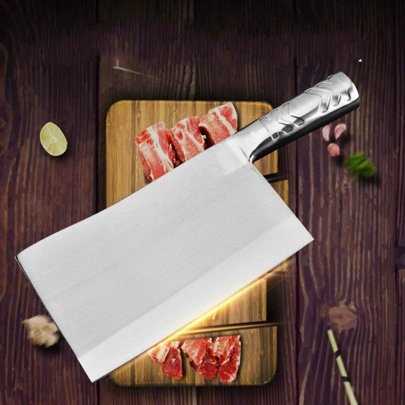 Профессиональный 8 ''Кливер Jiuwan Ножи 4cr13 Mo-V Нержавеющаясталь шеф-повар Ножи Кухня Chop Bone Ножи для резки мяса рыбы