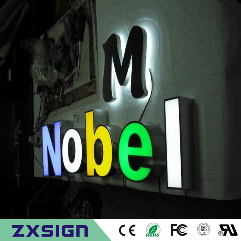 Outdoor Waterproof High Brightness Acrylic Stainless Steel Sides Lettre Lumineuse, Front Lit LED Channel Letter Logo