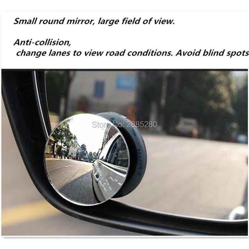 360° Car Blind Spot Mirror Front Wheel Convex Mirror Rear View Mirror Black R5