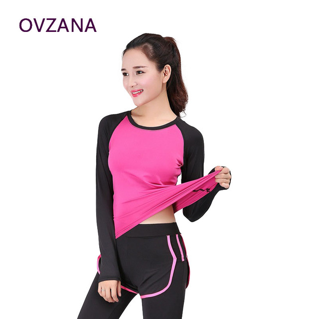 c76773285 Otoño nuevas niñas de manga larga yoga superior otoño camisa deportiva  mujeres running camisetas de fitness