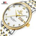 Carnival Watches Men Business Reloj Stainless Steel  Wristwatch Mens Fashion Automatic Mechanical Watch Relogio Masculino