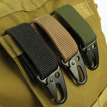 Outdoor Camping Military Tactical Nylon Belt Metal Hanging Carabiner Backpack Hook Clasp Survival Gear Keychain outdoor Tools(China)