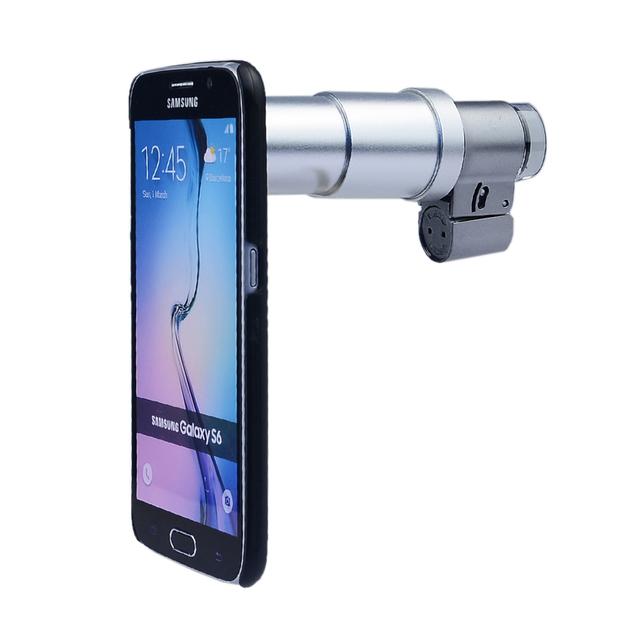 Lentes de câmera Do Telefone Lente 200X Microscópio LED Lupa Jóias Com case para iphone 7 samsung s3 s4 s5 s6 s7 borda