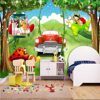 Custom 3D Photo Wallpaper Forest Cartoon Car Dream Children's Room Painting Wall Mural Wallpapers Home Decor Wall Papers