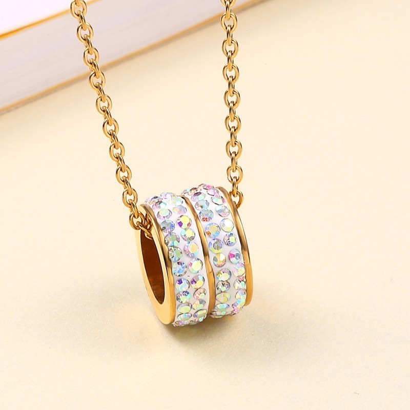 RIR Latest Ballet Dancer Rhinestone Gold Jewelry Sets Stainless Steel Necklace Set For Womens Jewellery Sets