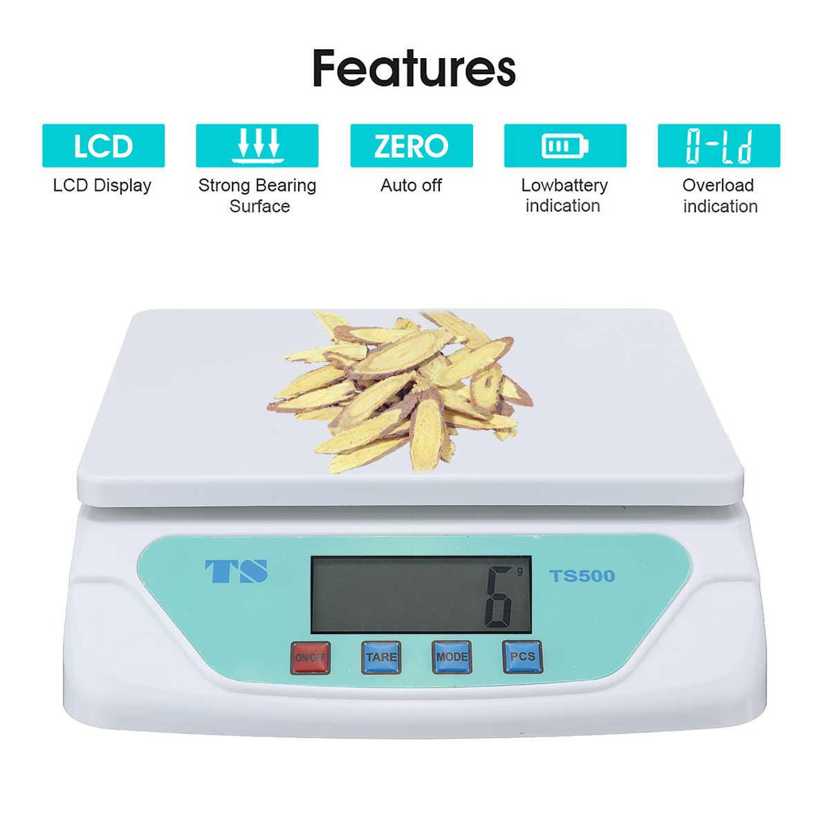 30 кг Электронные весы Взвешивание кухонные весы грамм весы с ЖК-дисплеем универсальные для дома электронные весы
