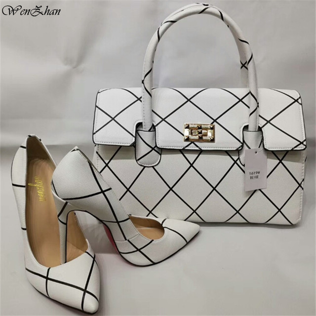 Women's High Heel Shoe With Matching Hand Bag