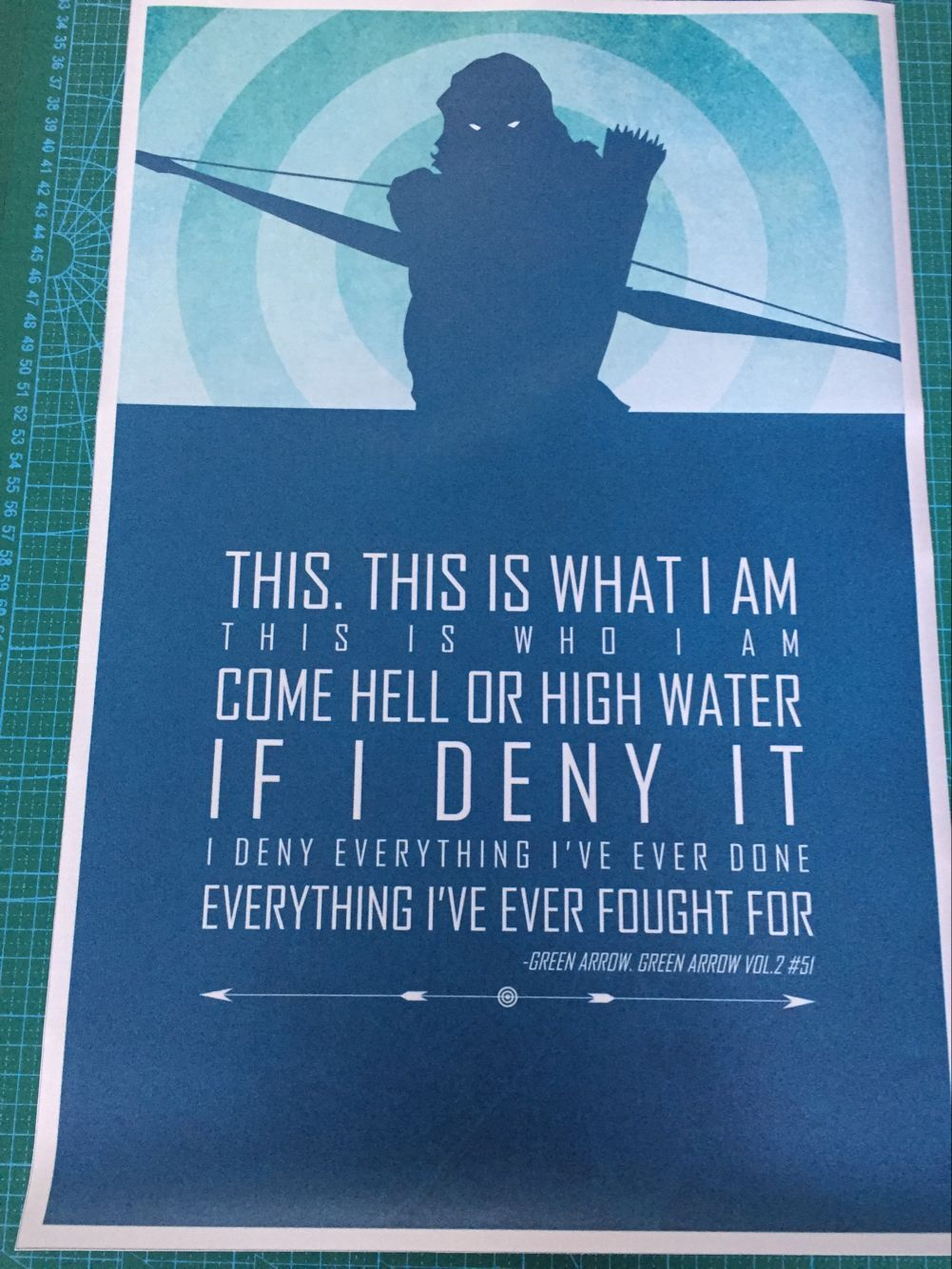 DIY frame This <font><b>Is</b></font> <font><b>What</b></font> I Am. Green Arrow <font><b>Superhero</b></font> Inspirational Poster Fabric Silk Posters And Prints For Home Decoration