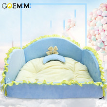 2018 Cat Pet Princess Bed soft Sofa For Small Dogs Top Quality Comfortable Dog Mat Kennels High Product