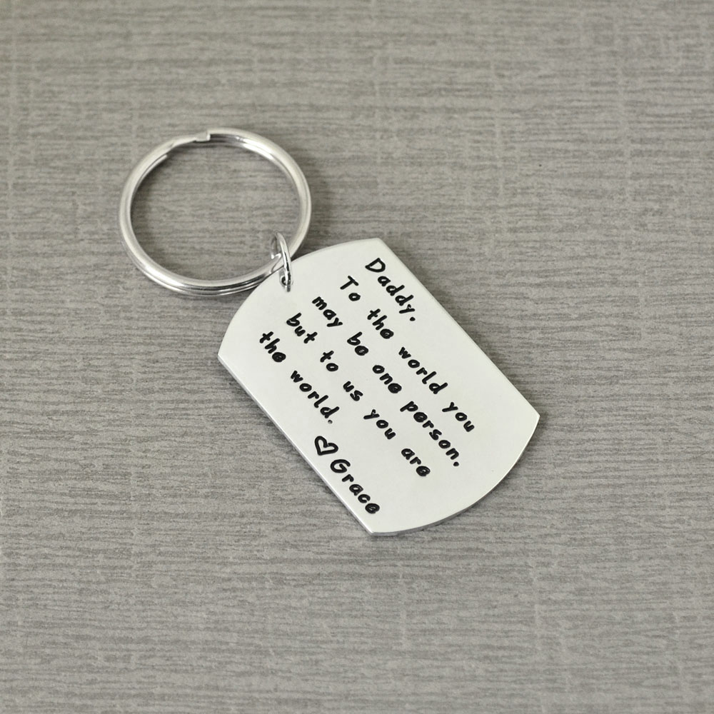 Dad/'s Gifts Father/'s Day Presents Father to be Personalised Photo Keyring